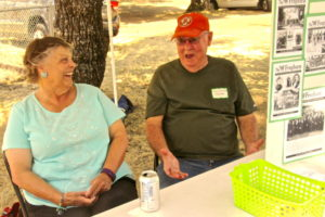 Wendy Black and Jerry Howard working the booth at Day in the Park